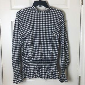 H&M checkered blouse